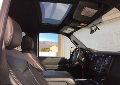 2012 Ford F350 six door interior